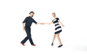 iLindy.com - Online Swing dance classes - Lindy Hop Swing Out Training with Kevin St Laurent & Jo Hoffberg