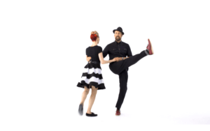 iLindy.com - Online Swing dance classes - Lindy Hop Partner Charleston training with Kevin St Laurent & Jo Hoffberg