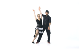iLindy.com - Online Swing dance classes - Lindy Hop Routine with Kevin St Laurent & Jo Hoffberg