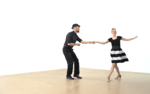 iLindy.com - Online Swing dance classes - Lindy Hop followers Styling with Kevin St Laurent & Jo Hoffberg