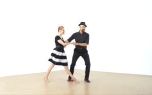 iLindy.com - Online Swing dance training - Lindy Hop followers styling challenges with Kevin St Laurent & Jo Hoffberg