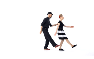 iLindy.com - Online Swing dance classes - Lindy Hop Charleston moves with Kevin St Laurent & Jo Hoffberg